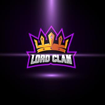 Plantilla de logotipo de crown esport