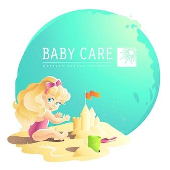 Plantilla de logotipo de cuidado del bebé
