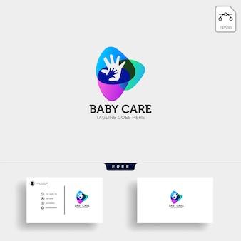 Plantilla de logotipo de cuidado de bebé