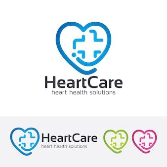 Plantilla de logotipo de cuidado del corazón