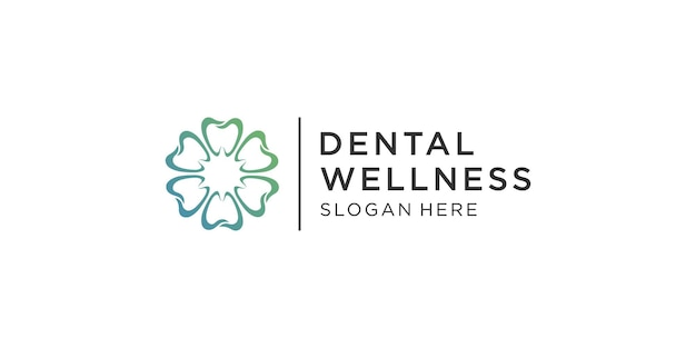 Plantilla de logotipo de cuidado dental