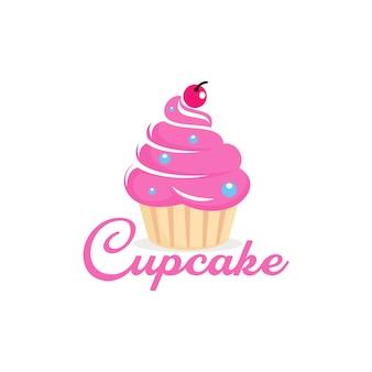 Plantilla de logotipo de cupcake