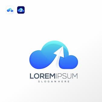 Plantilla de logotipo de datos en la nube