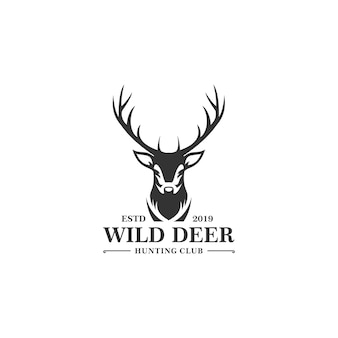 Plantilla de logotipo de deer hunt