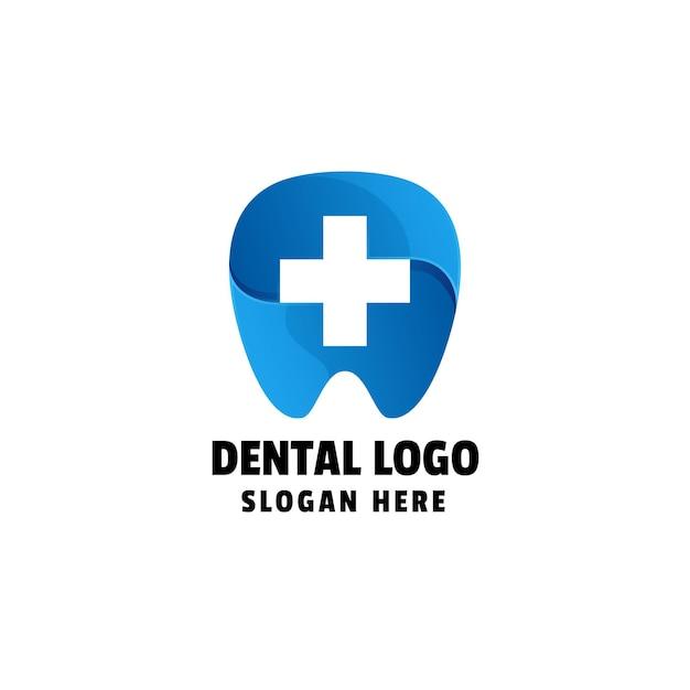 Plantilla de logotipo de degradado dental