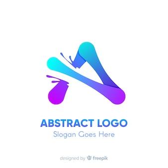 Plantilla de logotipo degradado con forma abstracta