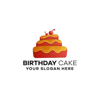 Plantilla de logotipo degradado de panadería
