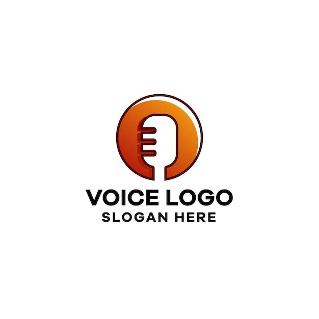 Plantilla de logotipo de degradado de voz