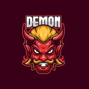 Plantilla de logotipo demon esports