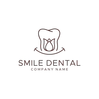 Plantilla de logotipo dental