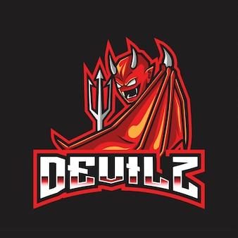 Plantilla de logotipo de devilz esport