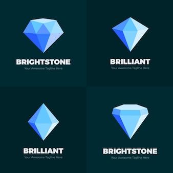 Plantilla de logotipo de diamante