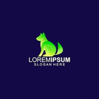 Plantilla de logotipo de diseño de perro