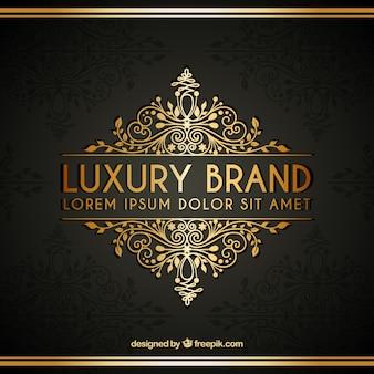 Plantilla de logotipo dorado de lujo