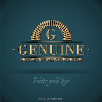 Plantilla de logotipo dorado