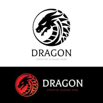 Plantilla de logotipo de dragón