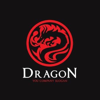 Plantilla del logotipo del dragón.