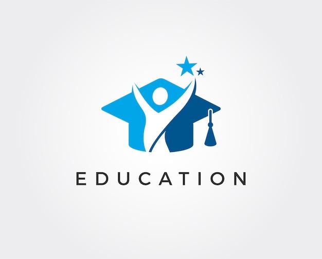 Plantilla de logotipo de educación mínima