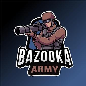 Plantilla de logotipo del ejército bazooka