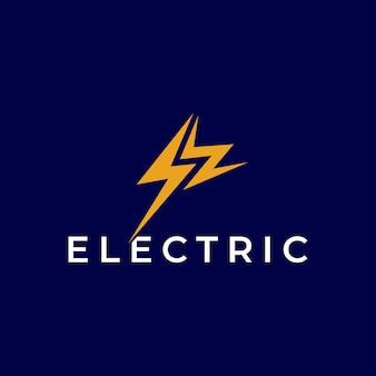 Plantilla de logotipo de electricidad símbolo de signo de perno de iluminación con la letra inicial sw