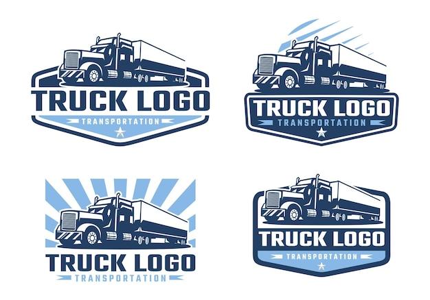 Plantilla de logotipo de empresa de camiones