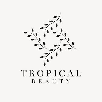 Plantilla de logotipo de empresa estética, vector de diseño profesional creativo
