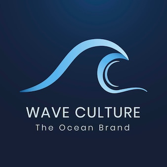 Plantilla de logotipo de empresa de medio ambiente, vector de diseño de agua moderno azul