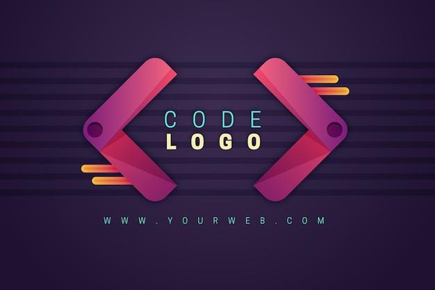 Plantilla de logotipo de empresa de programación degradada