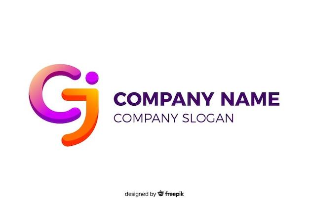 Plantilla de logotipo de la empresa resumen gradiente