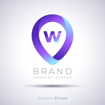 Plantilla de logotipo empresarial degradado abstracto