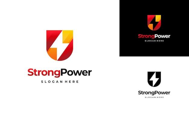 Plantilla de logotipo de energía segura