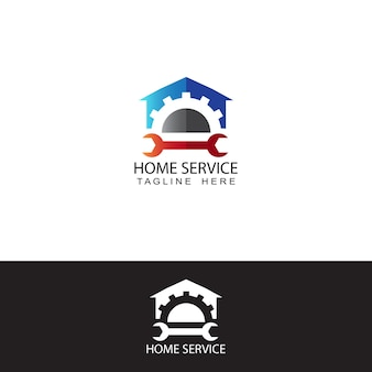 Plantilla de logotipo de engranaje de servicio