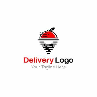 Plantilla de logotipo de entrega