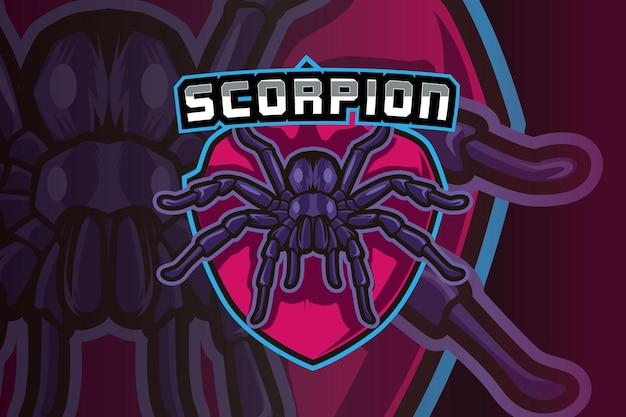 Plantilla de logotipo del equipo de deportes electrónicos scorpion