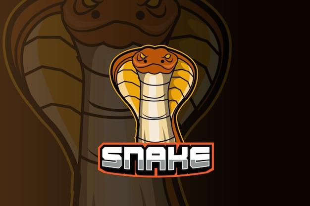 Plantilla de logotipo del equipo snake e-sports