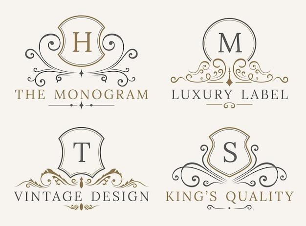 Plantilla de logotipo de escudo de lujo