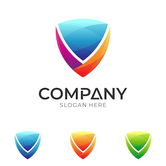 Plantilla de logotipo de escudo