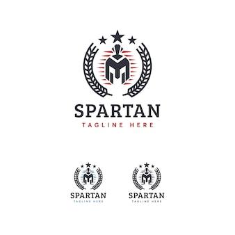 Plantilla de logotipo espartano