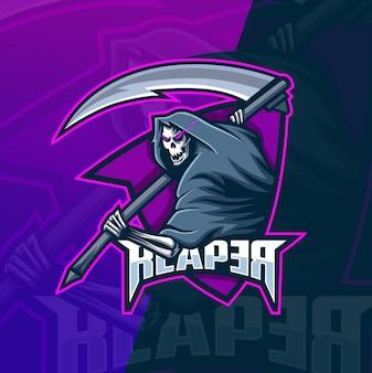 Plantilla de logotipo de esport cráneo mascota esport