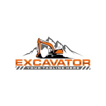 Plantilla de logotipo de excavadora
