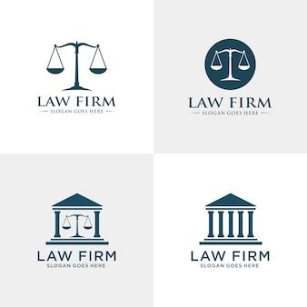 Plantilla de logotipo de la firma de abogados