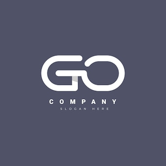 Plantilla de logotipo de flat go