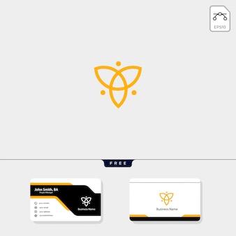 Plantilla de logotipo de flor de belleza, diseño de tarjeta de presentación gratis