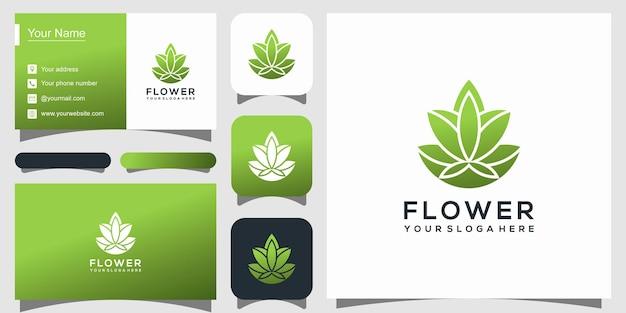 Plantilla de logotipo de flor de loto elegante