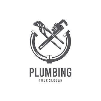 Plantilla de logotipo de fontanería