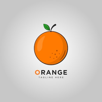 Plantilla de logotipo de fruta naranja