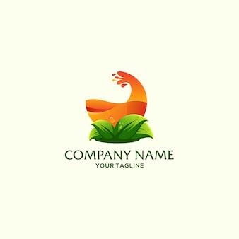 Plantilla de logotipo de fruta