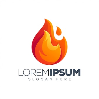 Plantilla de logotipo de fuego