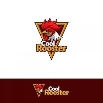 Plantilla de logotipo de gallo fresco