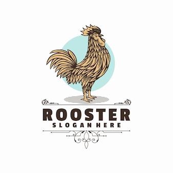 Plantilla de logotipo de gallo